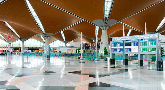 There are two terminals in KLIA.